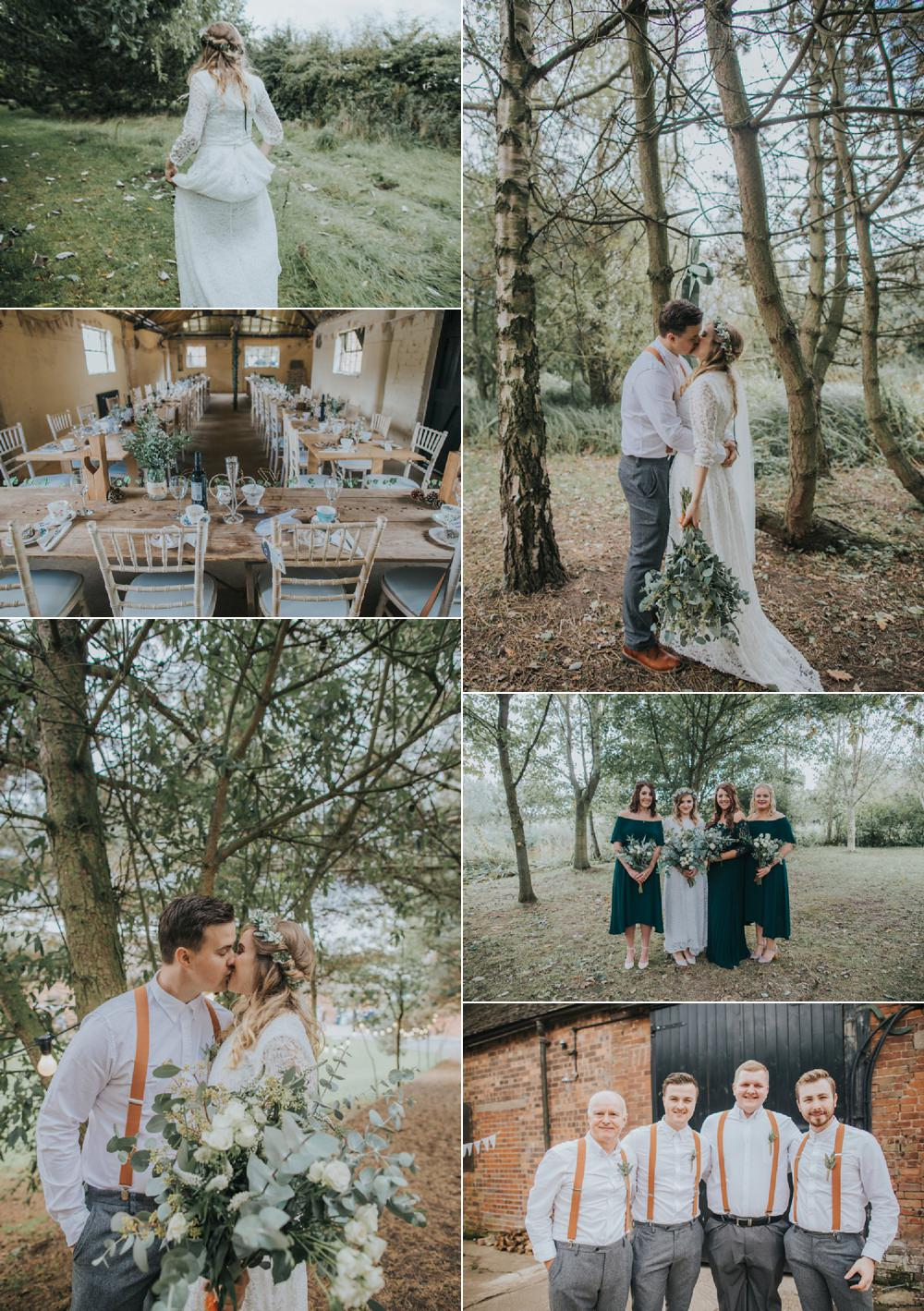 Whimsical Green & Copper Rustic DIY Wedding Brook Rose Photography