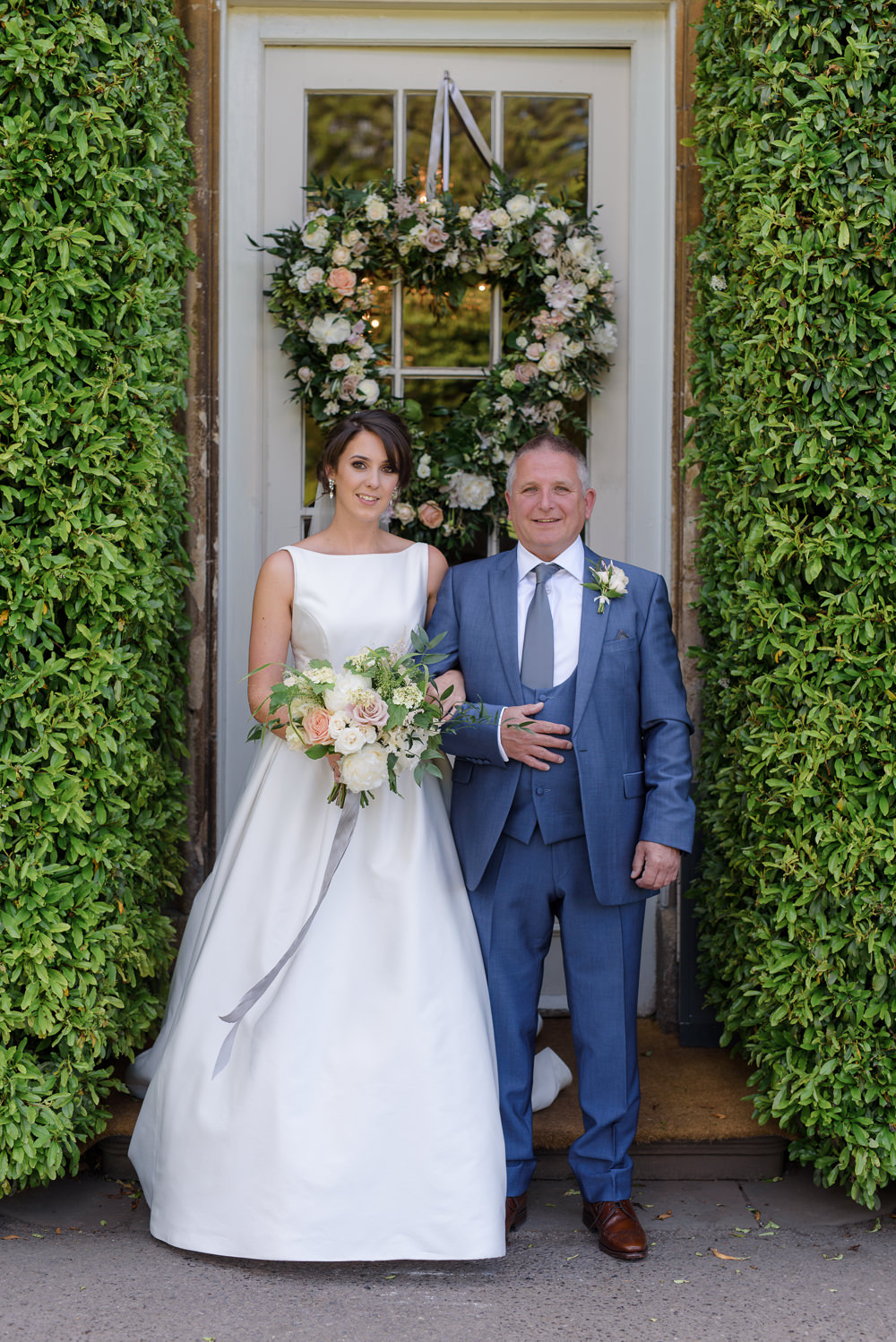Bride Bridal A Line Dress Straps Sleeveless Silk Boat Neck Neck Blue Suit Veil Babington House Wedding Ria Mishaal Photography