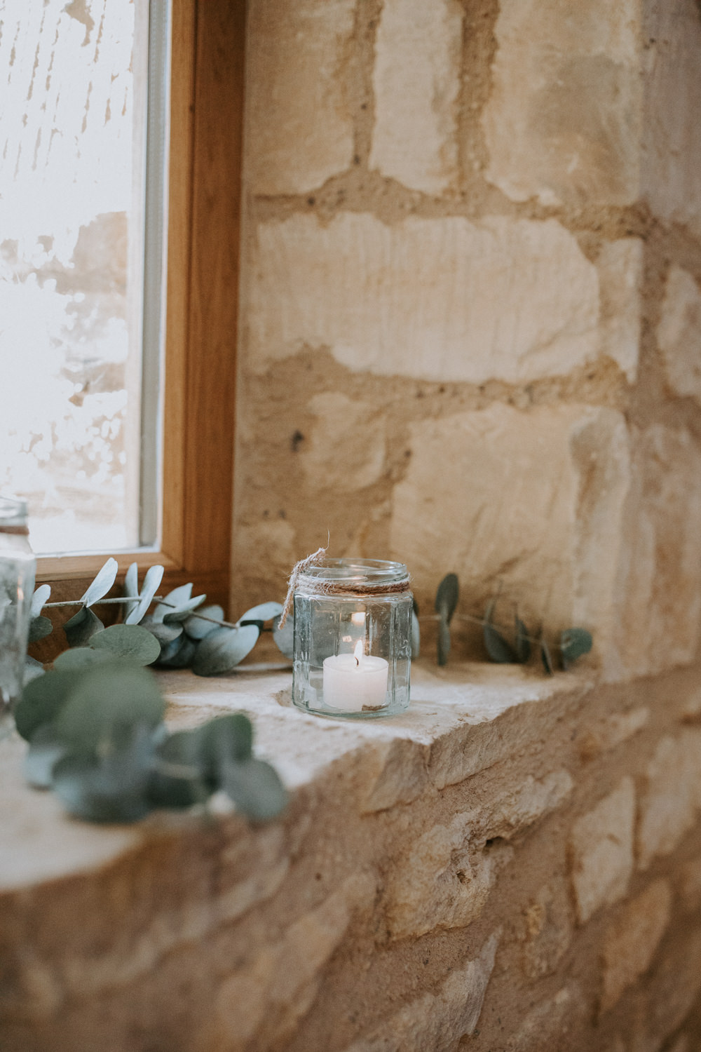 Eucalyptus Candle Ceremony Decor Barn Upcote Wedding Siobhan Beales Photography