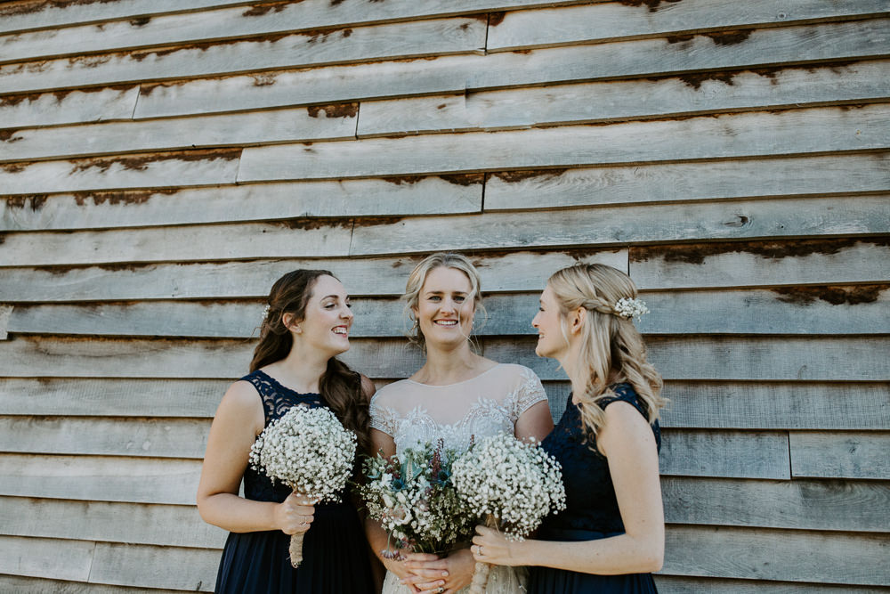 Long Blue Bridesmaid Dress Dresses Maxi Barn Upcote Wedding Siobhan Beales Photography