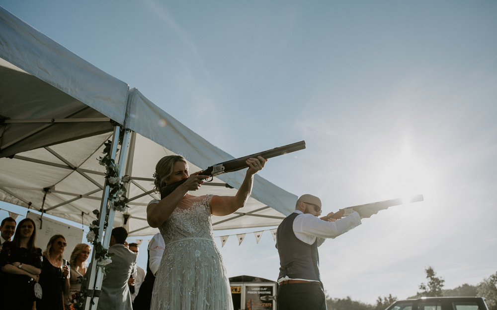 LLaser Clay Shooting Barn Upcote Wedding Siobhan Beales Photography