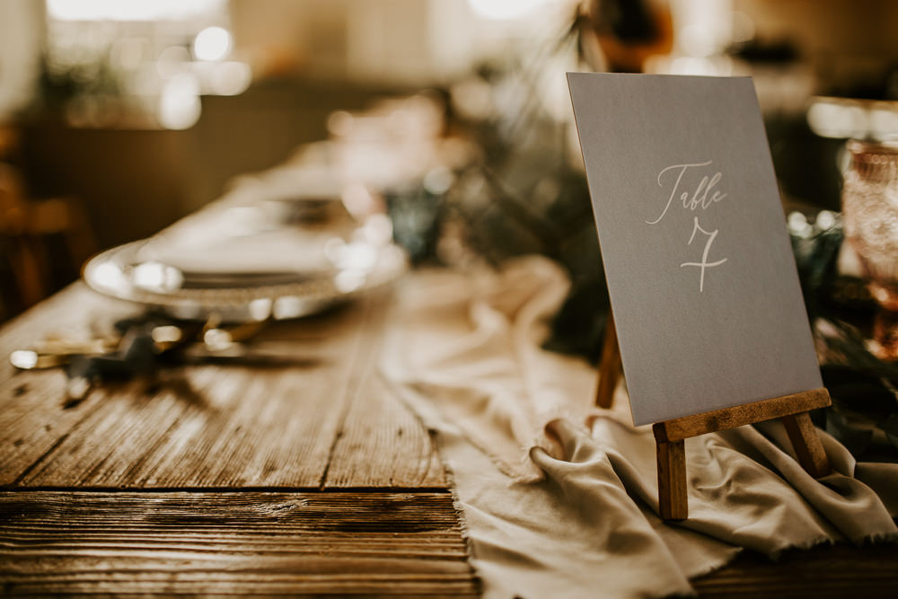 Table Name Number Easel Mini Blue Rich Romantic Wedding Ideas Daze of Glory Photography Catherine Spiller Photography