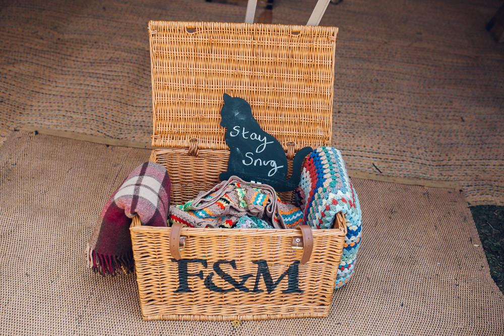 Blanket Hamper Basket Bright Camp Festival Wedding Chloe Lee Photography