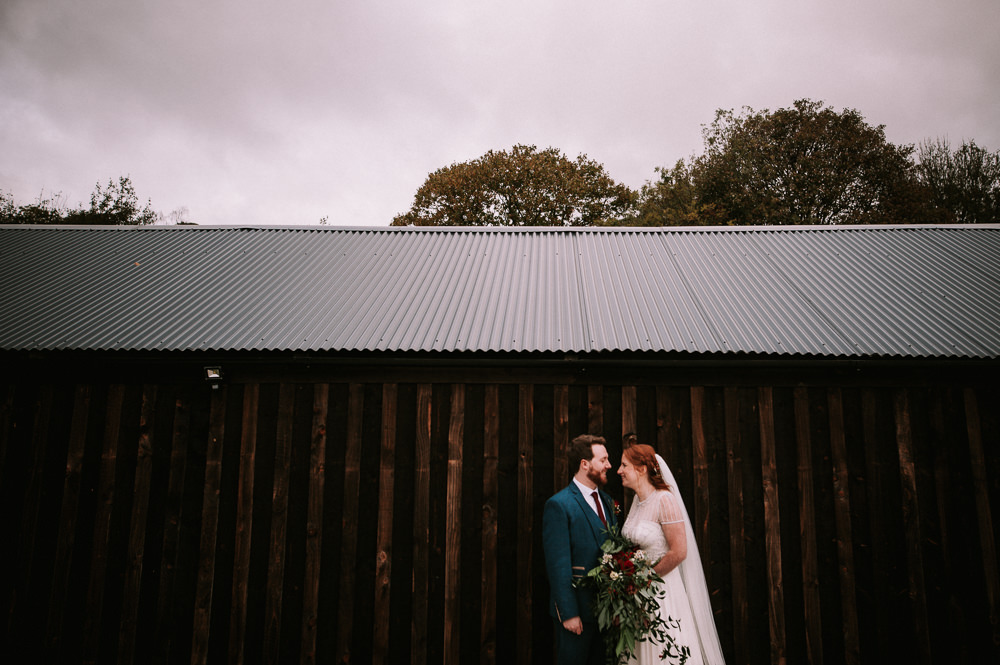 Bride Bridal Jenny Packham Beaded Dress Gown Three Piece Suit Groom Burgundy Tie Hazel Gap Wedding Maree Frances Photography