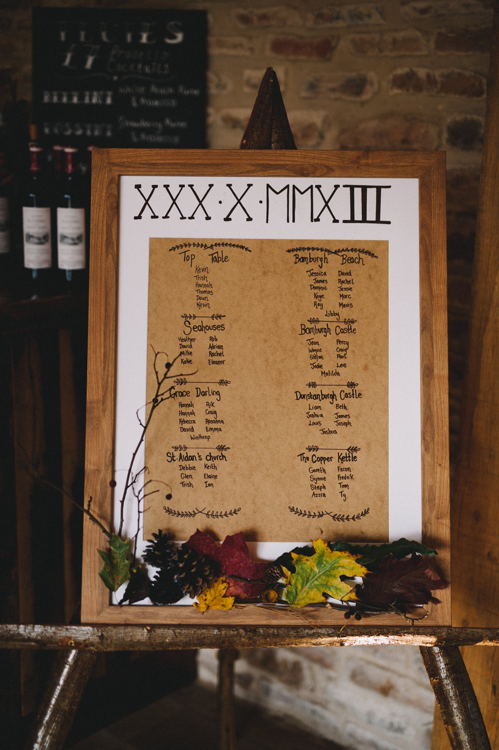 Table Plan Seating Chart Rustic Wooden Hazel Gap Wedding Maree Frances Photography