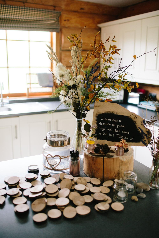 Guest Book Jar Messages Log Hidden River Cabins Wedding Dan Hough Photo