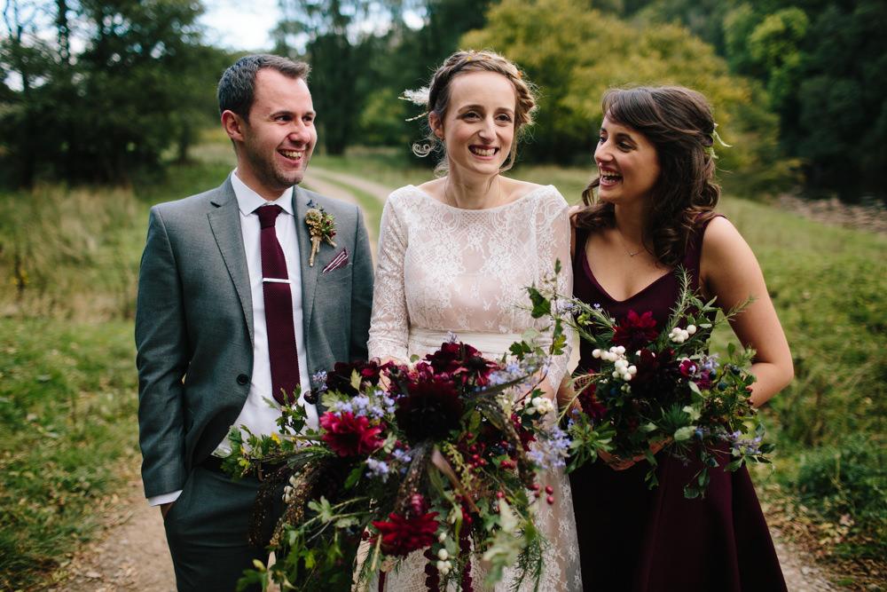 Burgundy Bridesmaid Dress Hidden River Cabins Wedding Dan Hough Photo