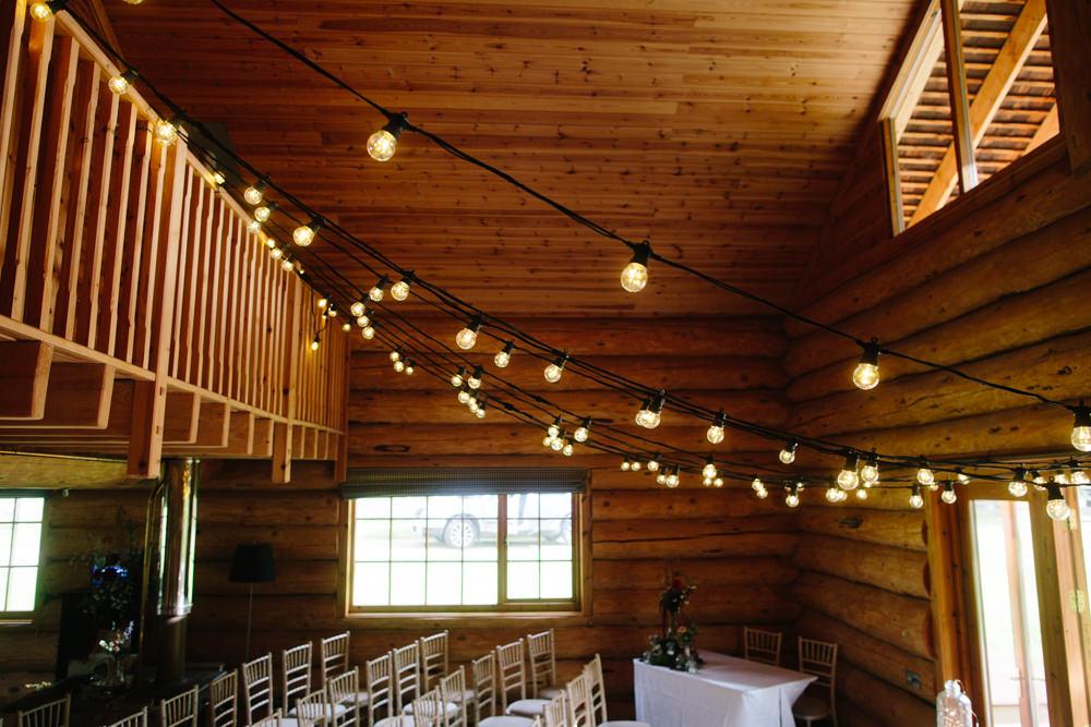 Festoon Lights Hidden River Cabins Wedding Dan Hough Photo