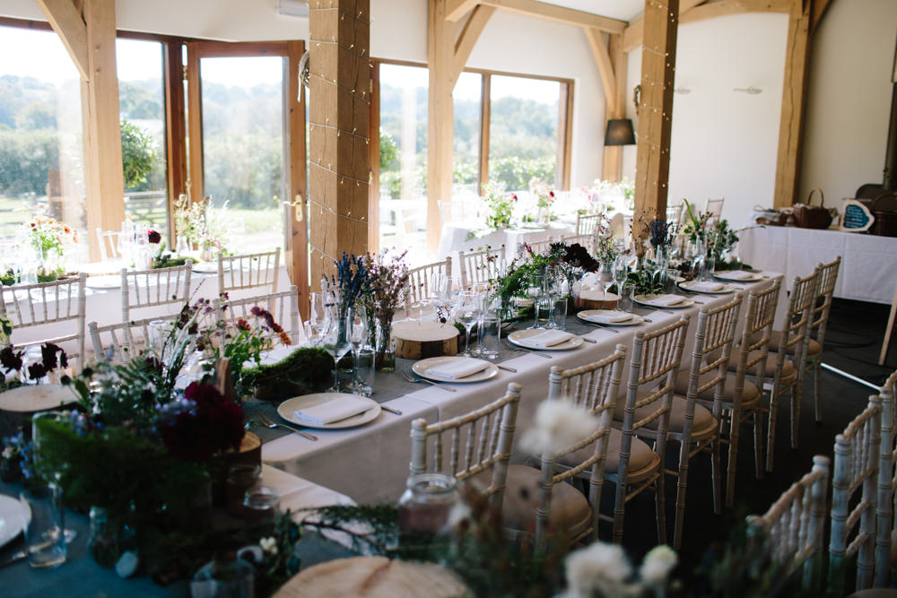 Table Runner Decor Linen Greenery Ferns Hidden River Cabins Wedding Dan Hough Photo