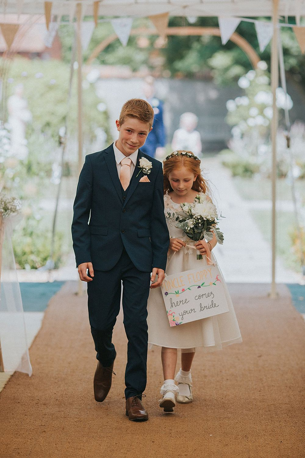 Page Boy Flower Girl Sign Houchins Farm Wedding Julia and You Photography