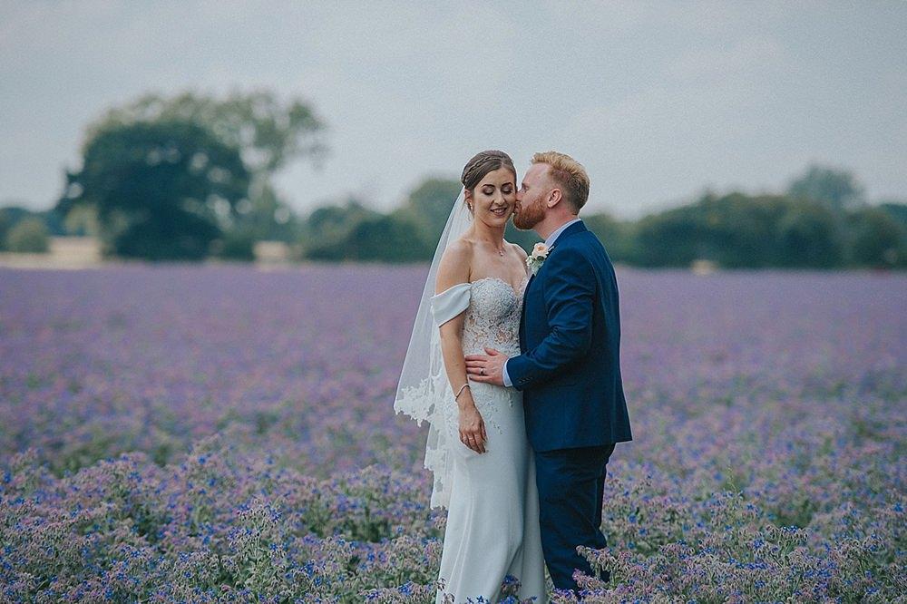Lilac Borage Field Portraits Houchins Farm Wedding Julia and You Photography