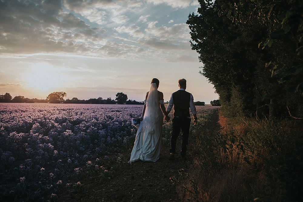 Lilac Borage Field Portraits Houchins Farm Wedding Julia and You Photography