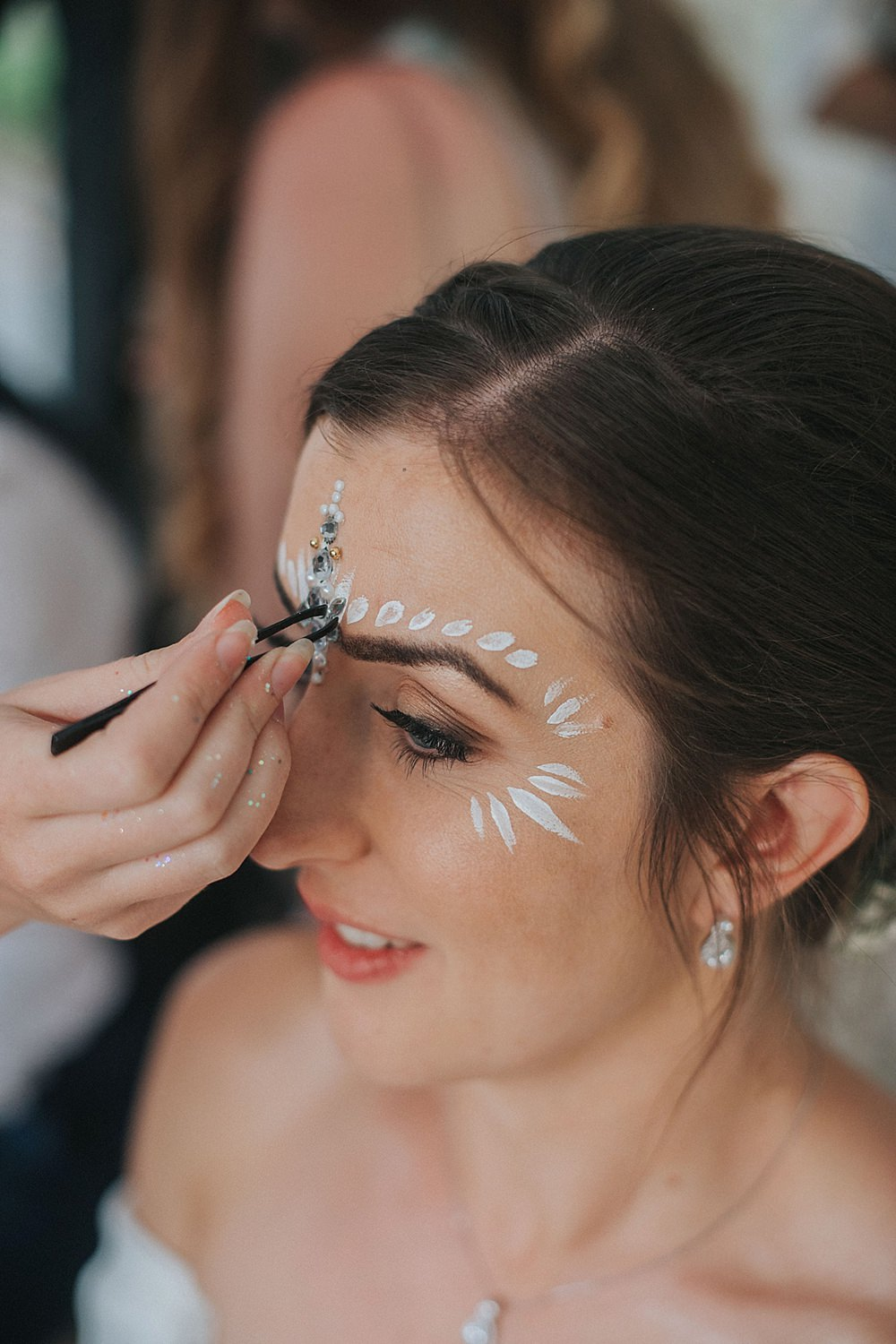 Glitter Make Up Bride Bridal Houchins Farm Wedding Julia and You Photography
