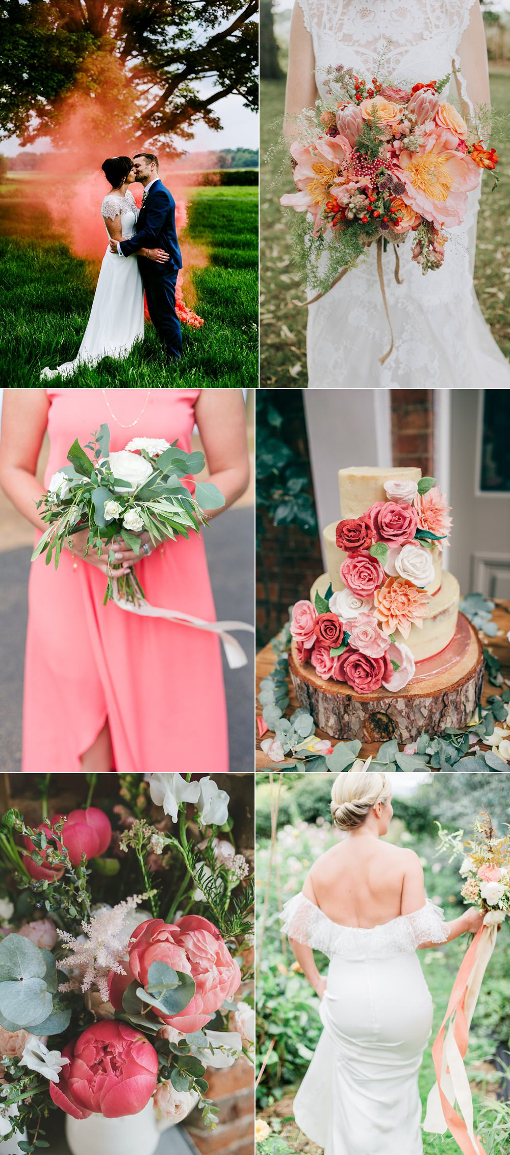 Living Coral Wedding Ideas. The Pantone Colour Of The Year