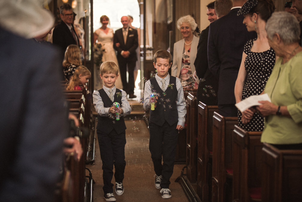 Page Boys Waistcoat Converse Bubble Gun Middle Coombe Farm Wedding Emma Stoner Photo