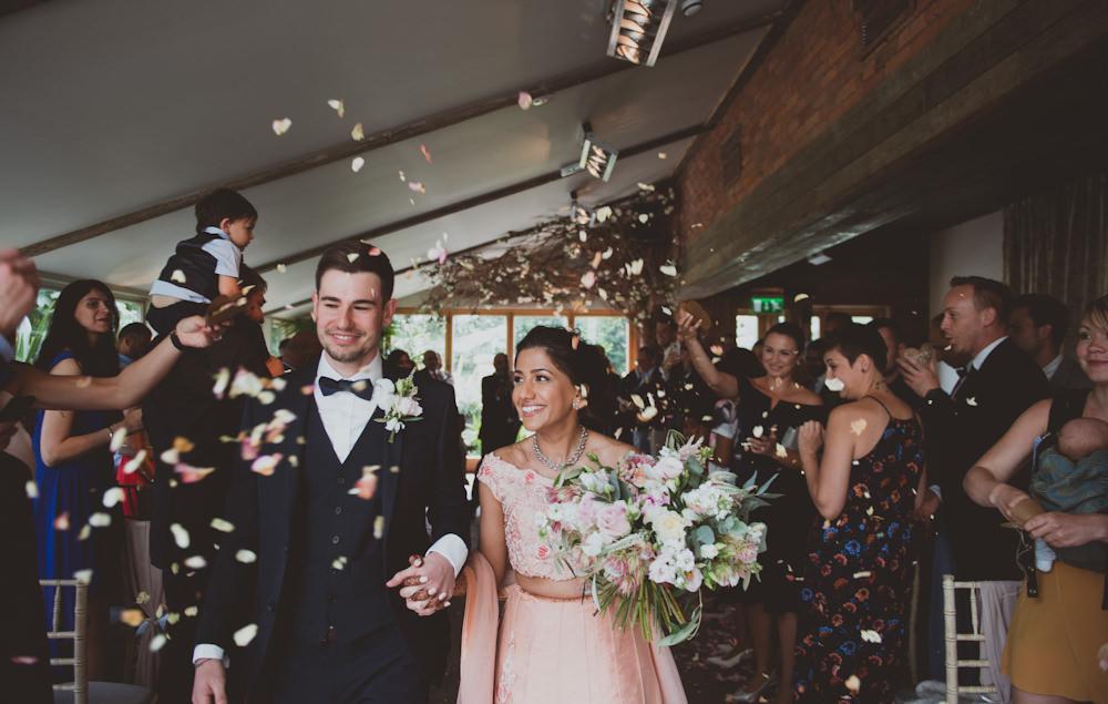 Confetti Throw Newton Hall Wedding Sasha Weddings