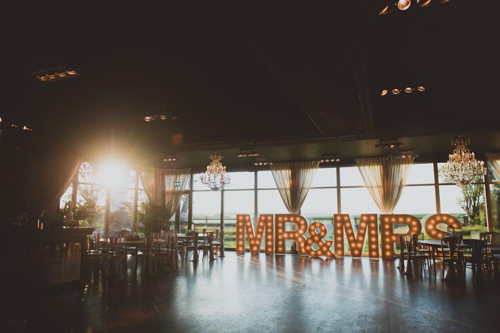 Mr Mrs Light Up Letter Signs Newton Hall Wedding Sasha Weddings