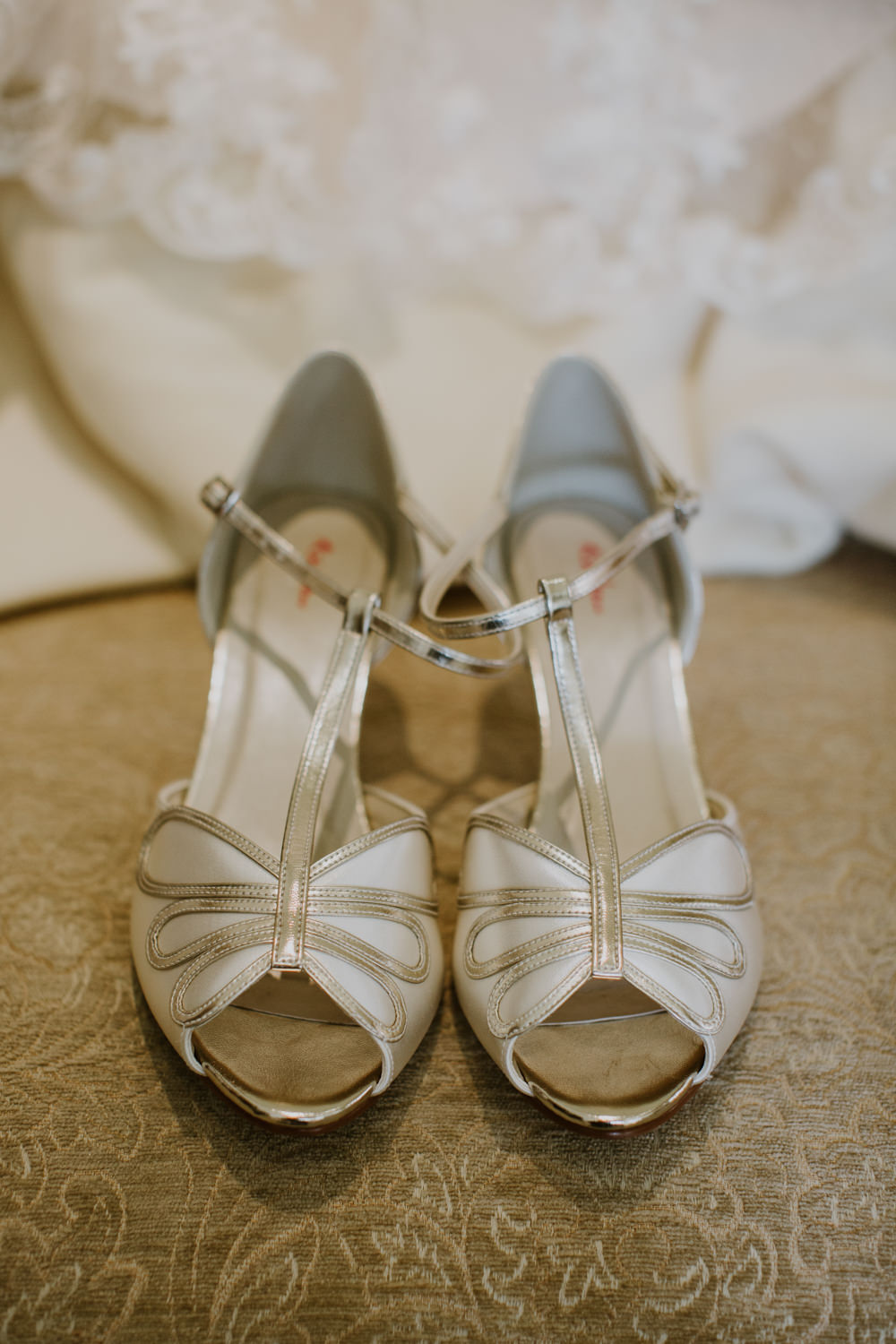 Shoes Bride Bridal T Bar Peep Toe Notley Abbey Wedding Alexandra Jane Photography