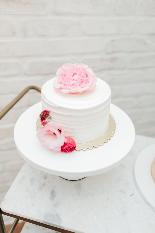 Buttercream Cake Flowers Romantic Soft Elopement Wedding Las Vegas Kristen Joy Photography