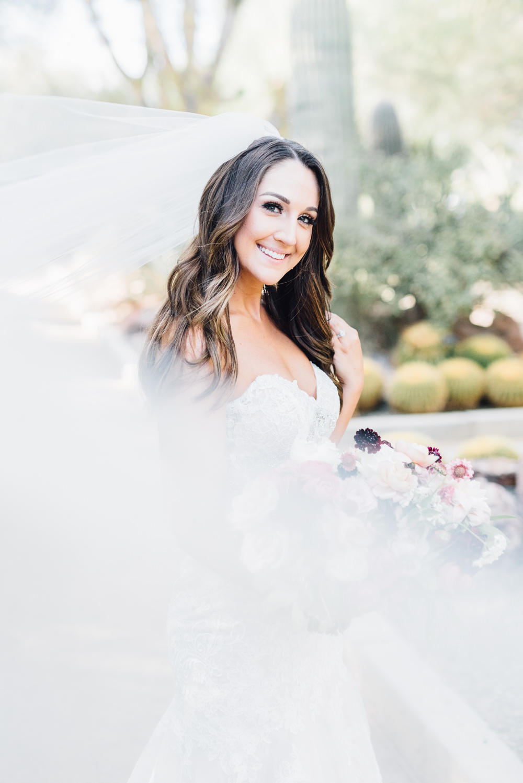 Bride Hair Bridal Long Waves Romantic Soft Elopement Wedding Las Vegas Kristen Joy Photography
