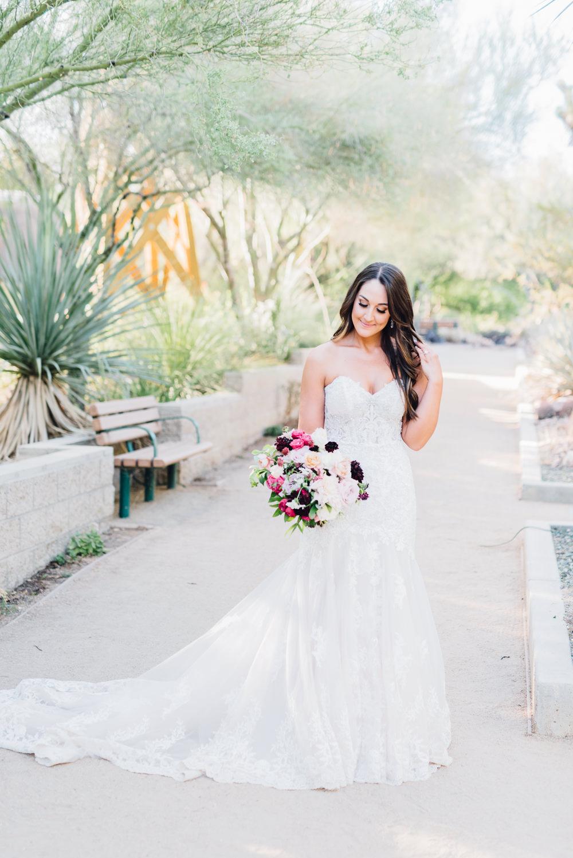 Bride Bridal Dress Gown Train Veil Lace Strapless Sweetheart Romantic Soft Elopement Wedding Las Vegas Kristen Joy Photography
