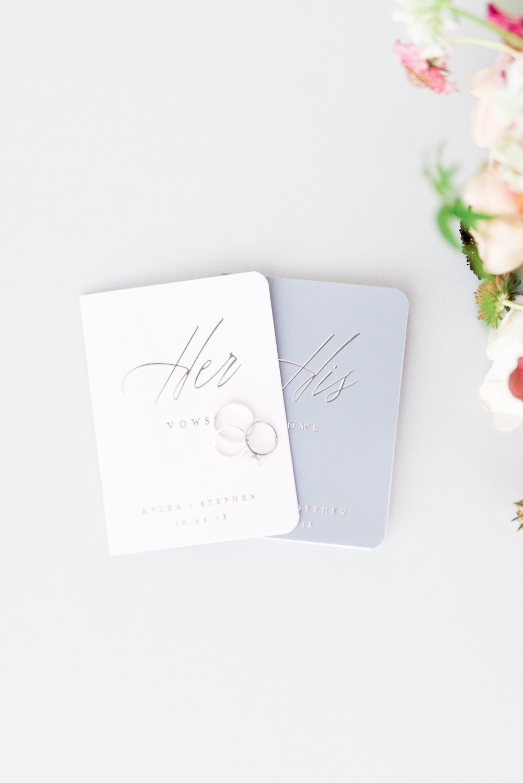 Vows Books Romantic Soft Elopement Wedding Las Vegas Kristen Joy Photography