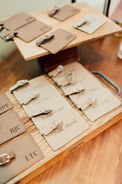 Luggage Tag Favours Romantic Soft Elopement Wedding Las Vegas Kristen Joy Photography