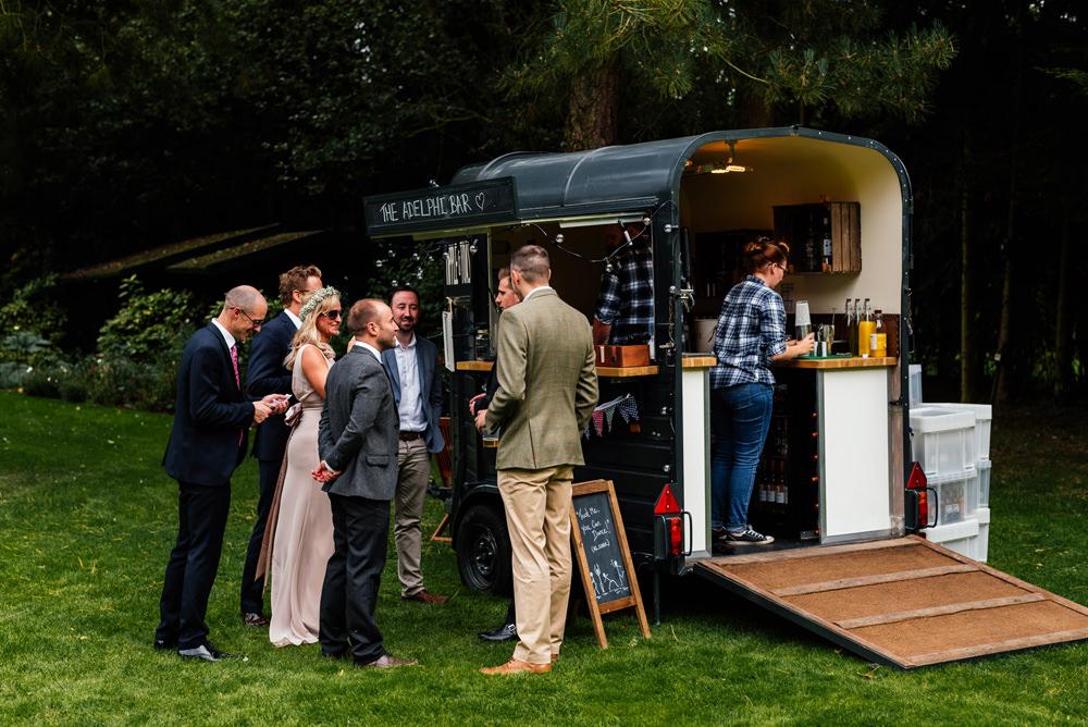 Horse Box Bar Secret Garden Wymington Wedding Aaron Collett Photography