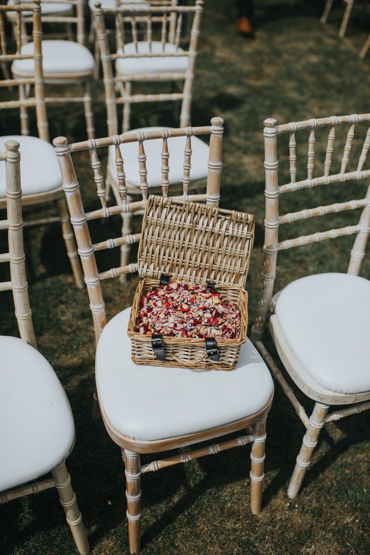 Confetti Basket Petals Shiningford Manor Wedding Magda K Photography