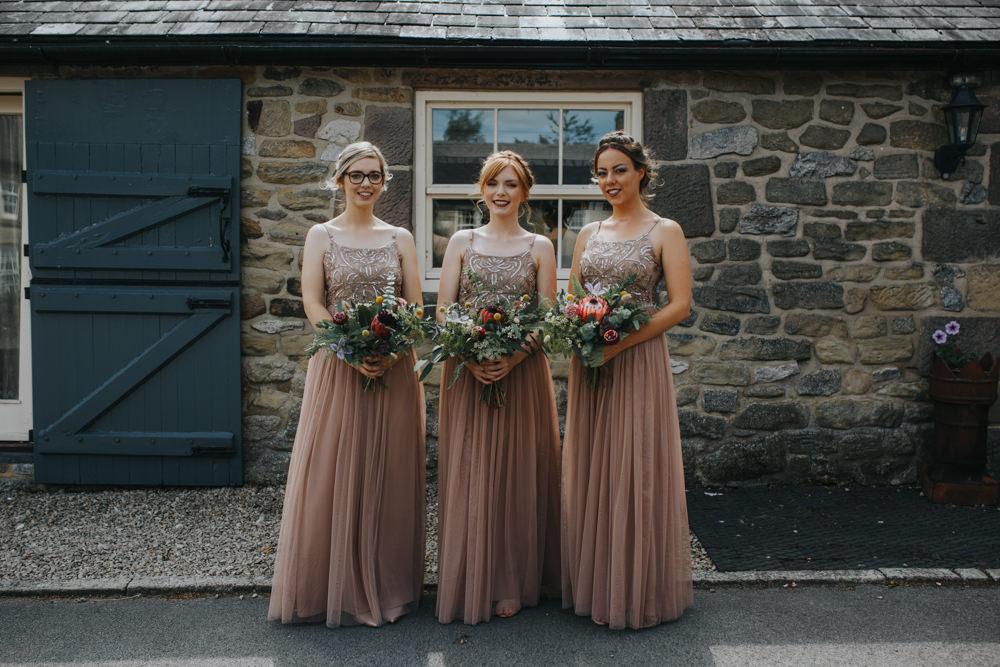 Bridesmaids Dress Dresses Long Maxi Sequin Pink Shiningford Manor Wedding Magda K Photography