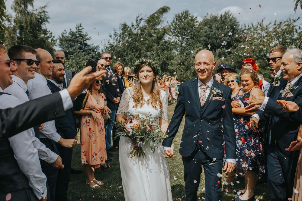 Confetti Throw Shiningford Manor Wedding Magda K Photography