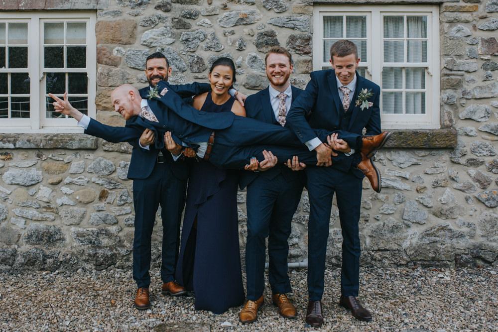 Groom Groomsmen Suits Floral Tie Shiningford Manor Wedding Magda K Photography