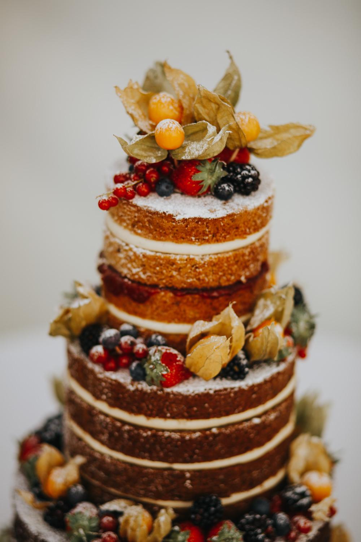 Naked Cake Sponge Layer Fruits Icing Shiningford Manor Wedding Magda K Photography