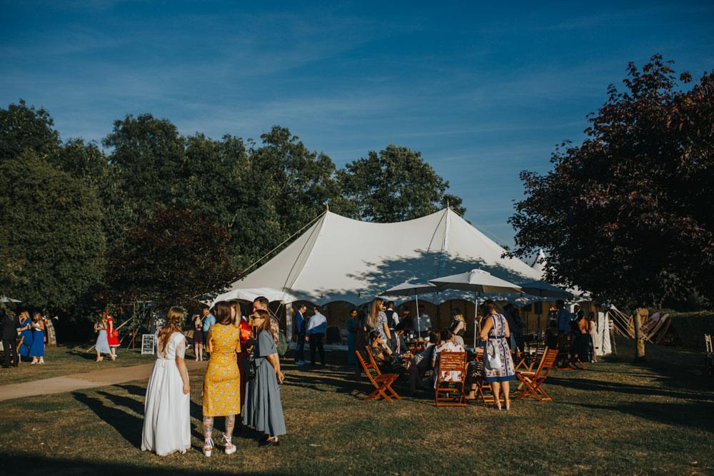 Pole Tent Marquee Shiningford Manor Wedding Magda K Photography