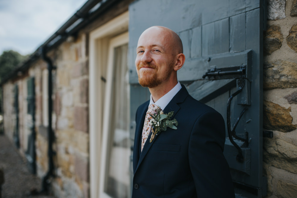 Groom Suit Floral Tie Shiningford Manor Wedding Magda K Photography
