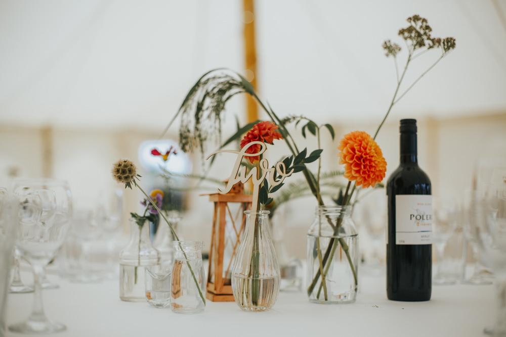Table Flowers Decor Jars Shiningford Manor Wedding Magda K Photography