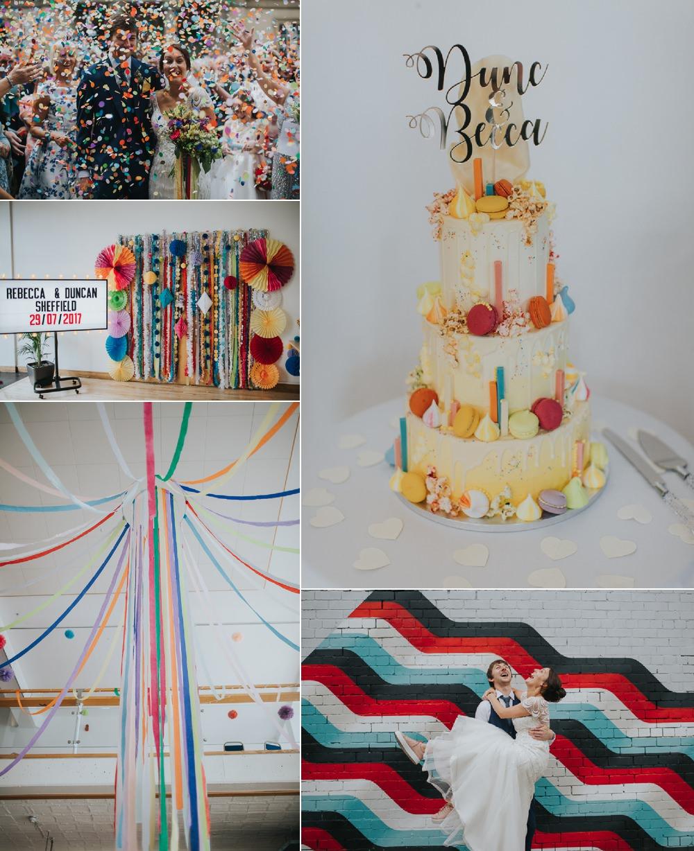Urban Fun & Colourful Cinema Wedding Bloom Weddings