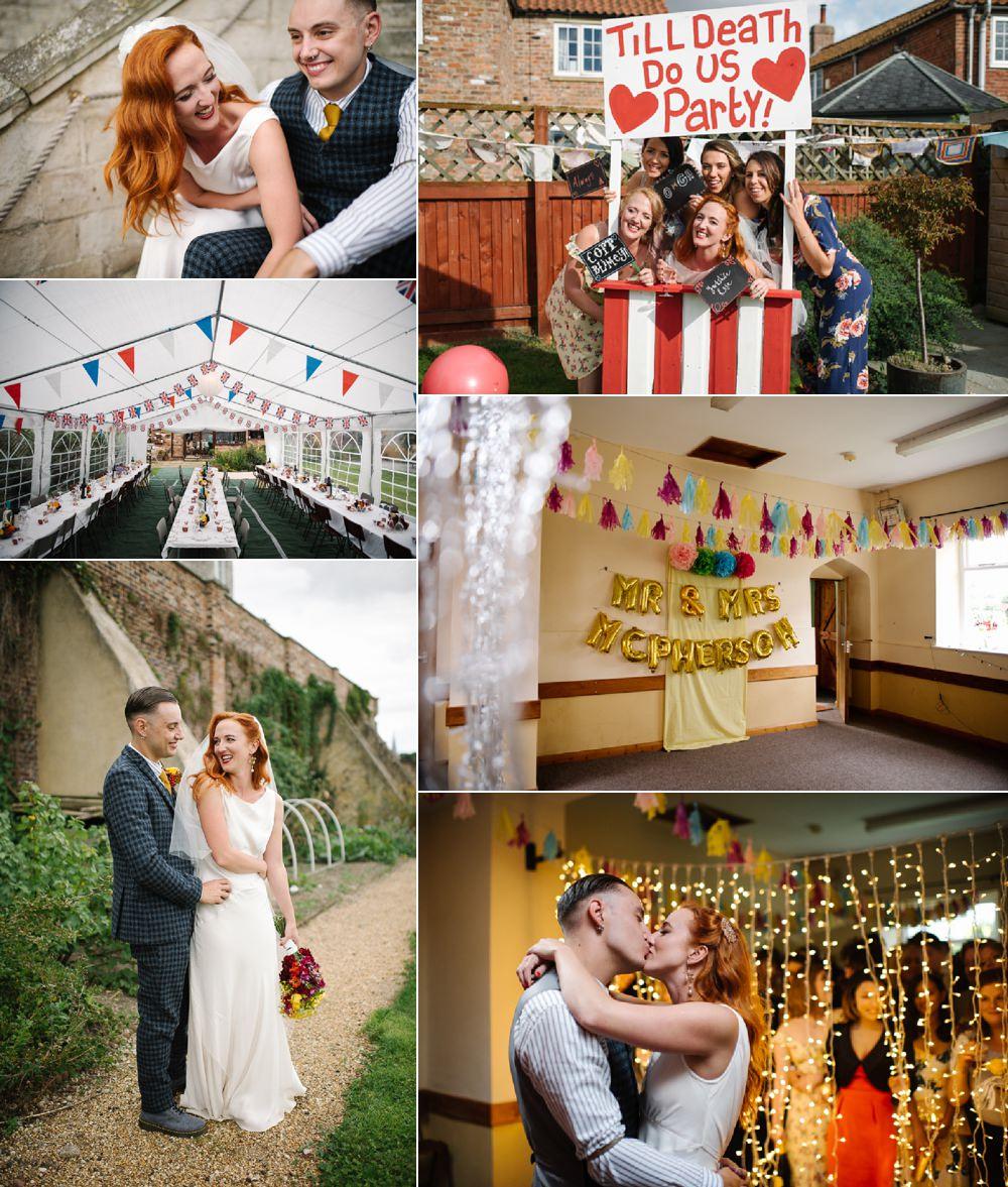 Homemade Street Party Back Garden Wedding Fox Moon Photography