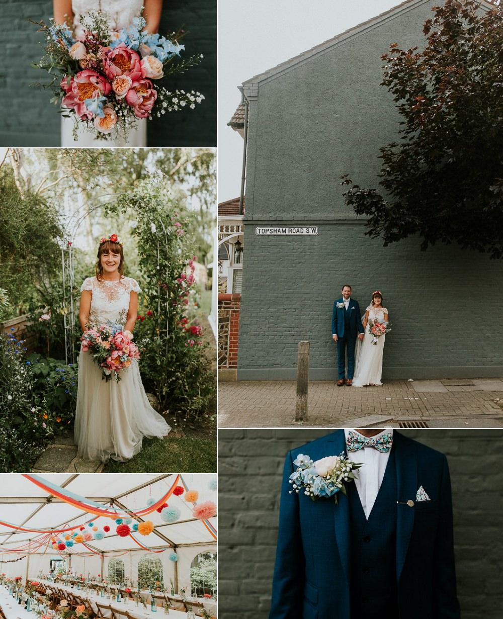 Joyful Bright & Colourful DIY Back Garden Wedding Jonny MP