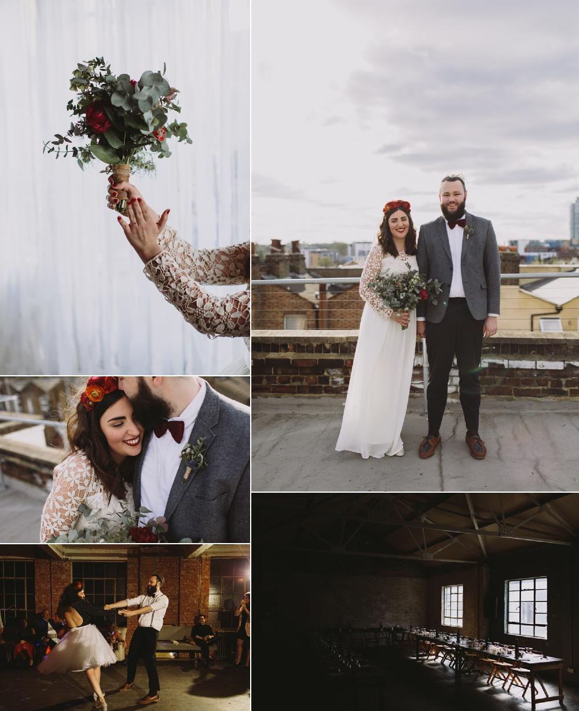 Alternative London Warehouse Wedding with Heart Luke Hayden Photography