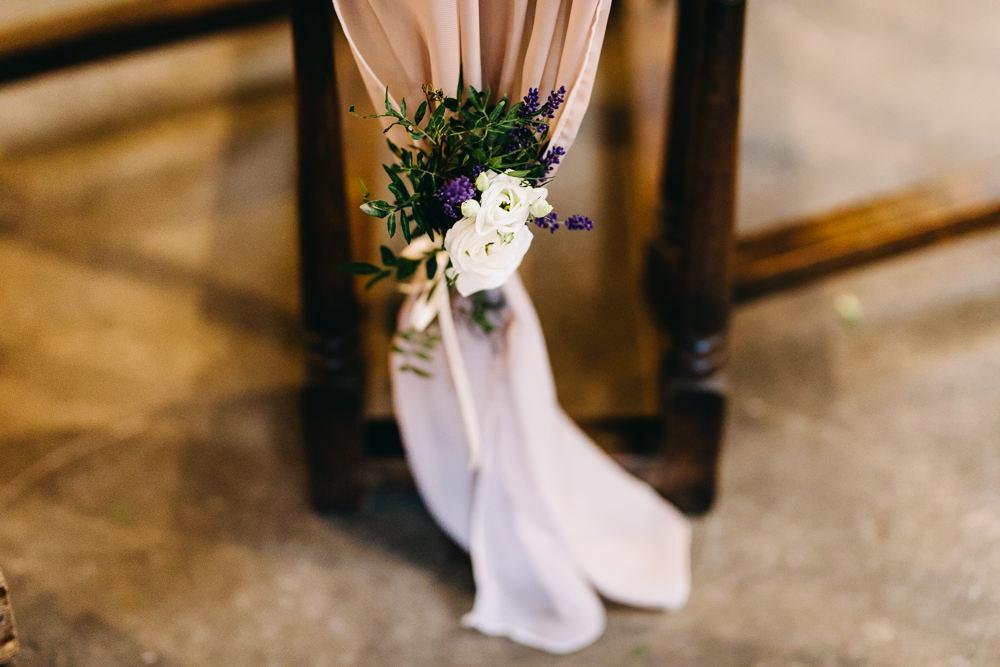 Fabric Drape Chairs Flowers Decor Bawdon Lodge Farm Wedding Hannah Hall Photography