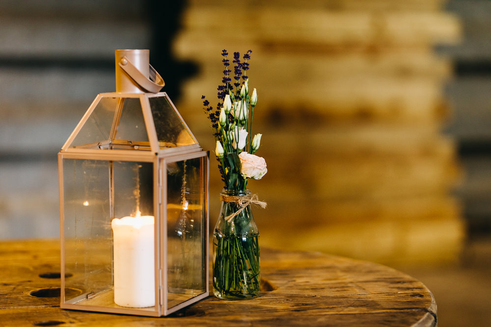 Lantern Candle Flowers Decor Bawdon Lodge Farm Wedding Hannah Hall Photography