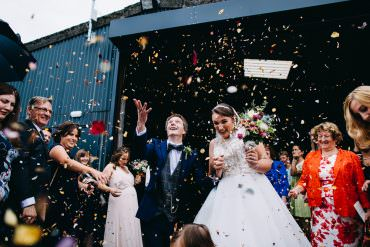 Confetti Petals Bawdon Lodge Farm Wedding Hannah Hall Photography