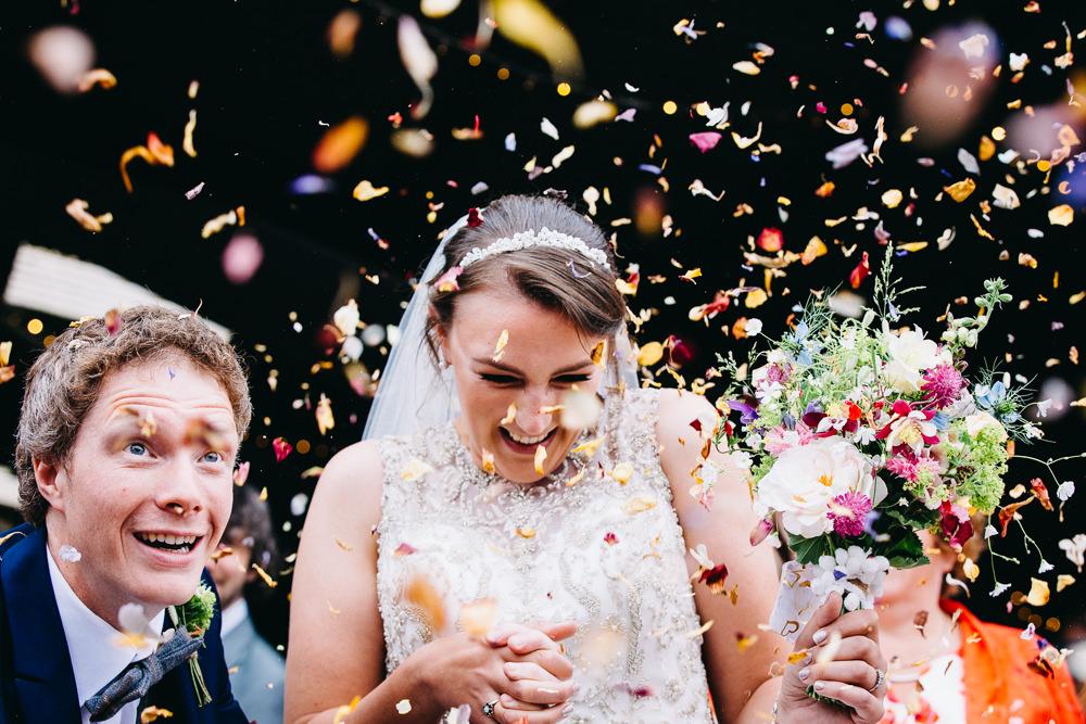 Confetti Petals Bawdon Lodge Farm Wedding Hannah Hall Photography