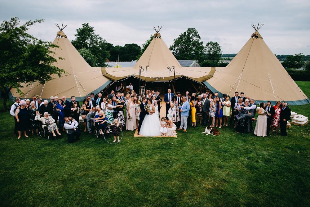 Tipi Bawdon Lodge Farm Wedding Hannah Hall Photography