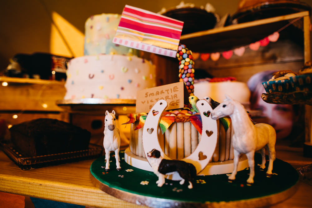 Cake Bake Off Dessert Table Bawdon Lodge Farm Wedding Hannah Hall Photography