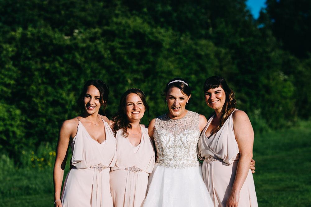 Pale Pink Bridesmaid Dress Dresses Bawdon Lodge Farm Wedding Hannah Hall Photography