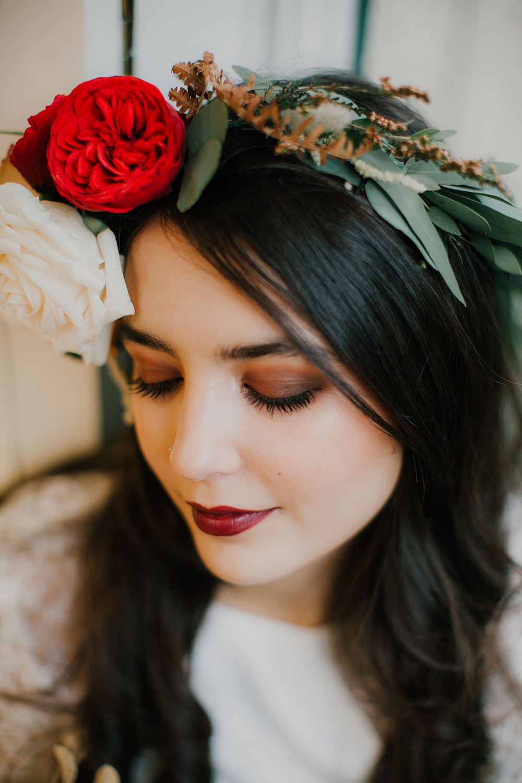 Bride Bridal Make Up Beauty Eyes Bohemian Music Folk Wedding Ideas Gail Secker Photography
