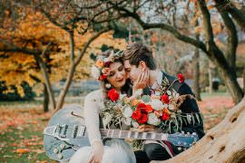 Bohemian Music Folk Wedding Ideas Gail Secker Photography