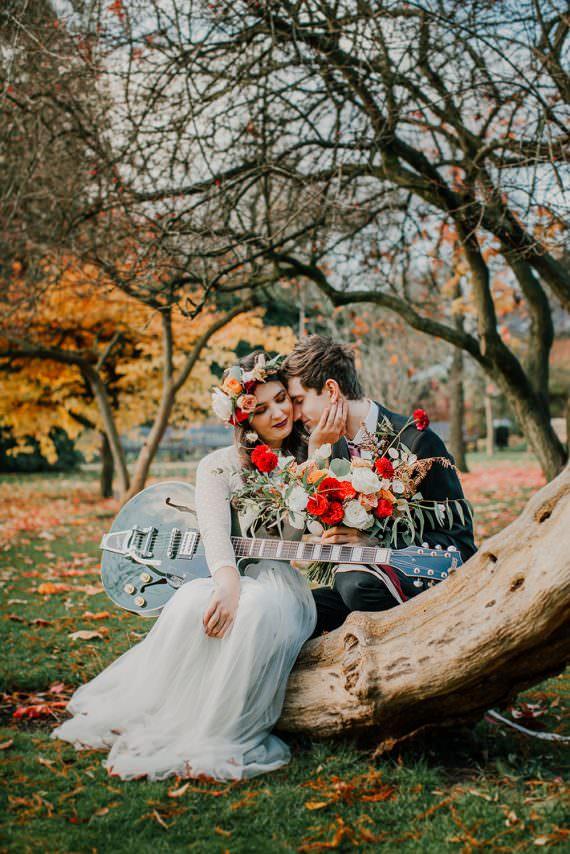 Bohemian Music Folk Wedding Ideas Gail Secker Photography